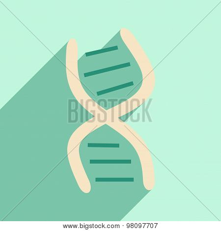 Flat with shadow icon and mobile application genes