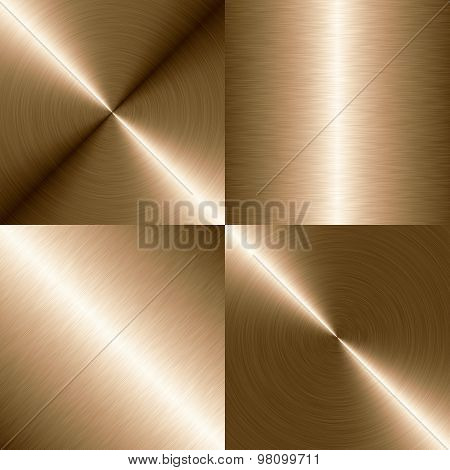 Set High Resolution Four Brushed Metal Background