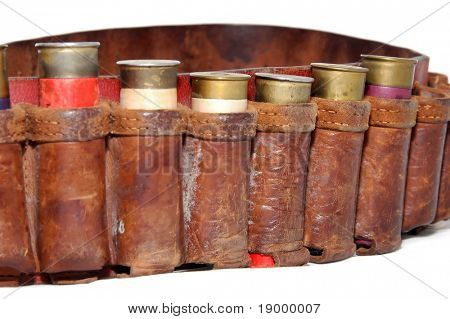 Shotgun shells in a belt