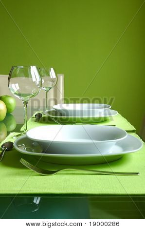 Prepared dining table