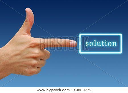 Ergebnis Handzeichen für Lösung