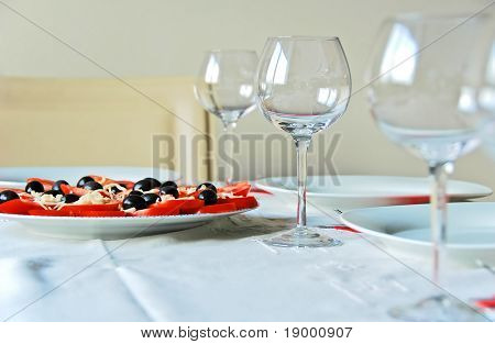 Modern italian table setting