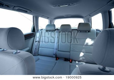 Car back seats interior