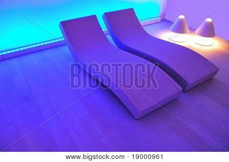 Fancy spa interior