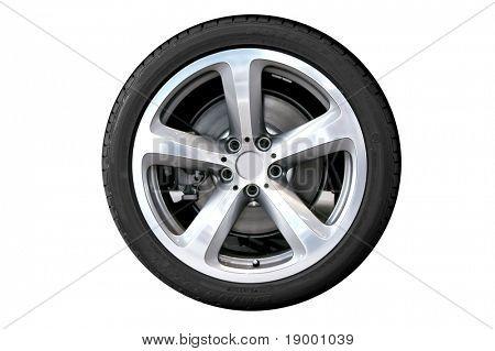 Car wheel - isolated