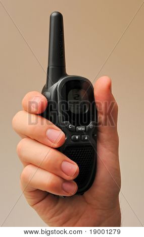Walkie Talkie in a hand