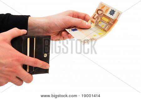 Paying hand - money concept