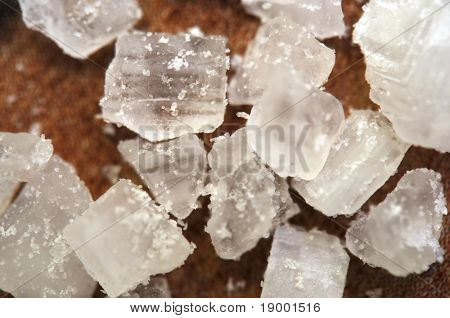 Salt crystals - extreme macro (narrow focus)