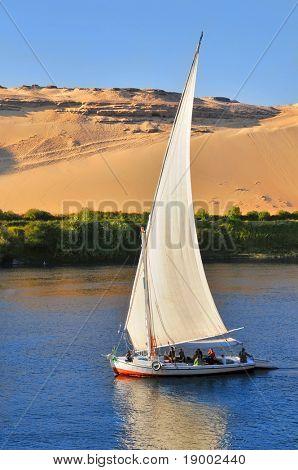 Berühmte Assuan-Segelboot (Ägypten Tourismus)