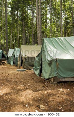 Tents At Summer Camp