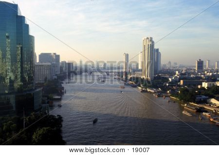 Bangkok And Chao Praya River