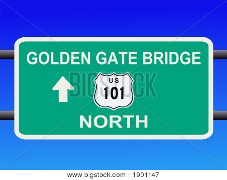 Golden Gate Bridge Highway 101 Sign