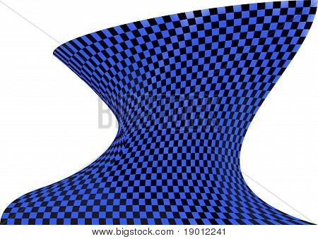 Op art in black and blue