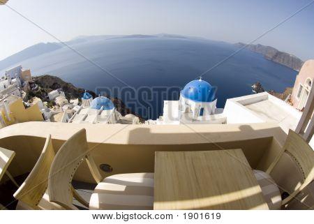View Over Greek Island Churches
