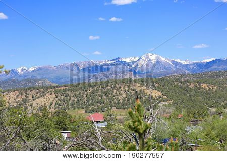The La Plata mountains in Durango, CO