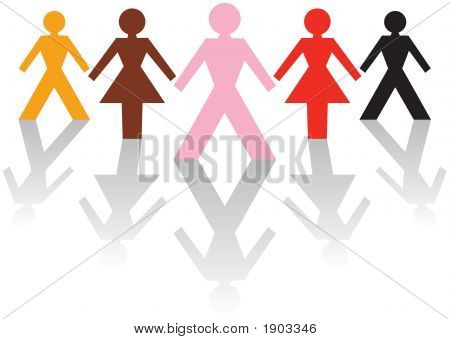 Multikulturelle männlich & weibliche Business-Team
