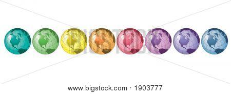 Globos de arco iris