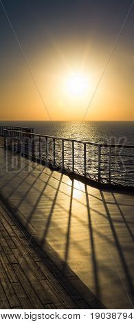 Ship Rail Shadow
