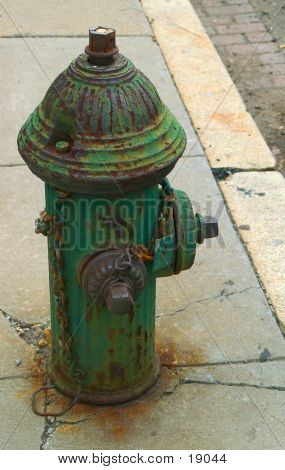 Old Green Hydrant