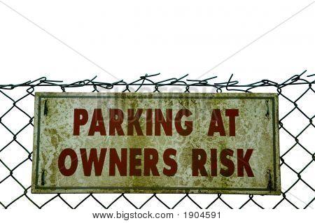 Grunge Parking Sign