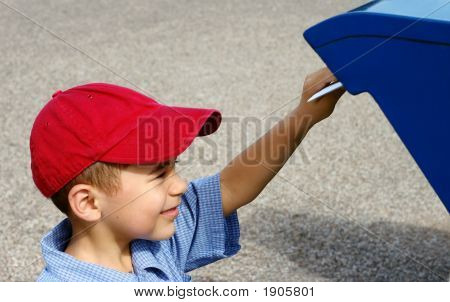 Boy Mailing A Letter