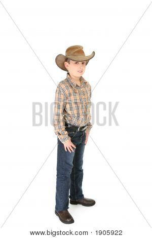 County Boy Wearing A Cowboy Hat