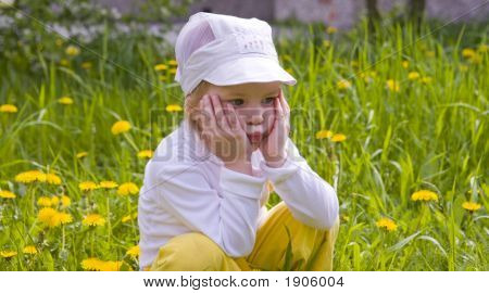The Girl And Dandelions