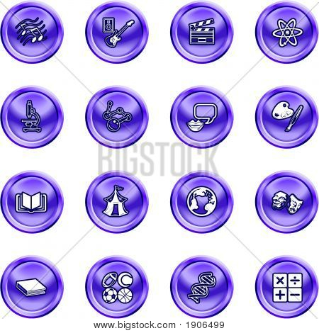 Academic Study Subject Icons