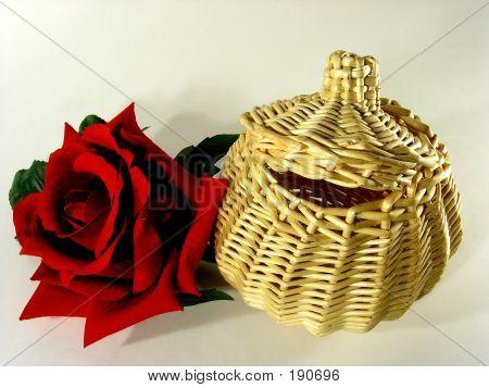 Basket And Rose.