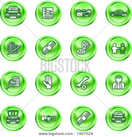 Vehicle Dealership Icon Set