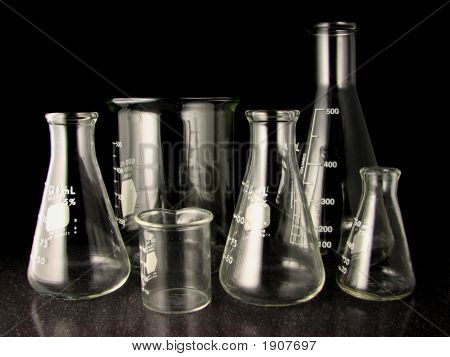 Erlenmeyer Flasks And Beakers