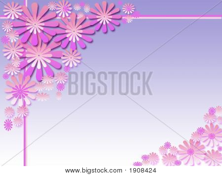 Pink Flower Birthday Baner