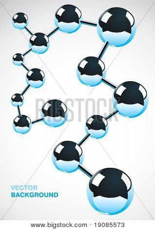 Abstract Background Of Metal Atoms
