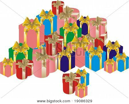 large pile of gifts