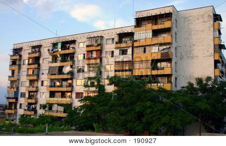 Grim Bulgarian Apartment Block