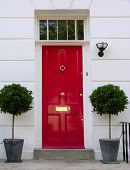 picture of front door  - Traditional English victorian front door - JPG
