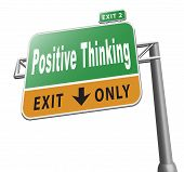 Think Positive Billboard Sign poster