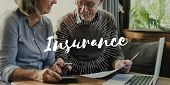 Senior Adult Planning Retirement Investment Insurance poster