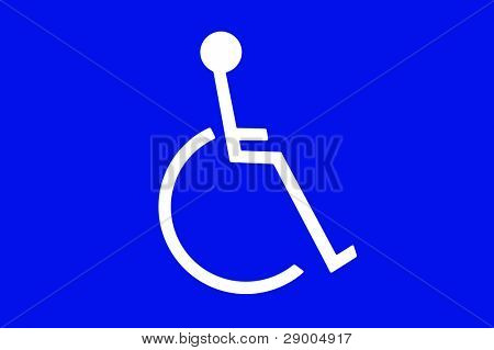 A handicapped sign for use in any disabled person inference.