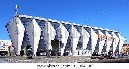 PILSEN CZECH REPUBLIC - JANUARY 18: after reconstruction hockey stadium CEZ Arena. The 8236 seat stadium will host matches Czech Extra League, January 18, 2012, Czech Republic.