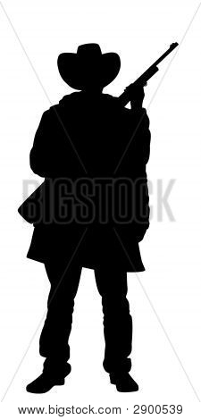 Cowboy Holding Rifle