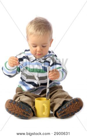 Boy With Kitchen Utensil