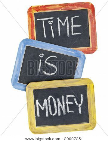 Time Is Money On Blackboard