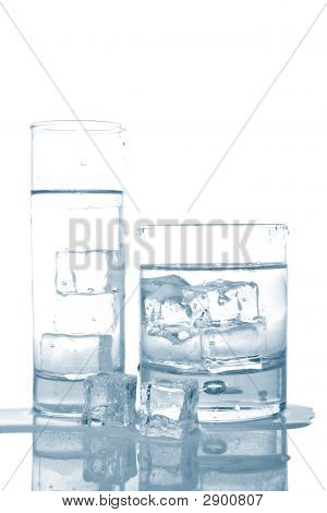 Water With Ice Cubes