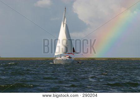 Segeln mit Regenbogen