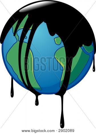 Earth Involved In Crude Oil