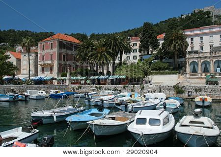 Marina on island of Hvar, Croatia