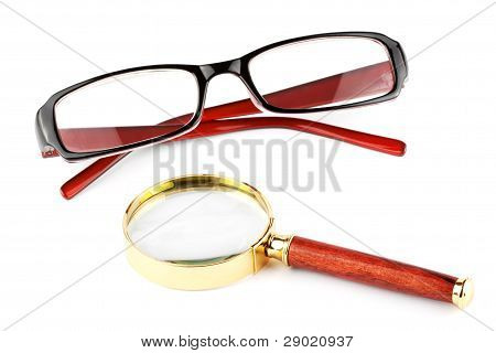 Magnifier And Eyeglass