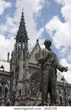 Basilica Quito Ecuador Statue Garcia Moreno