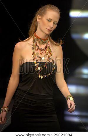 Fashion model on Zagreb Fashion Week Spring/ Summer 2007.
